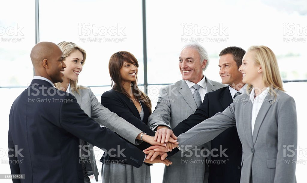 Business unity royalty-free stock photo