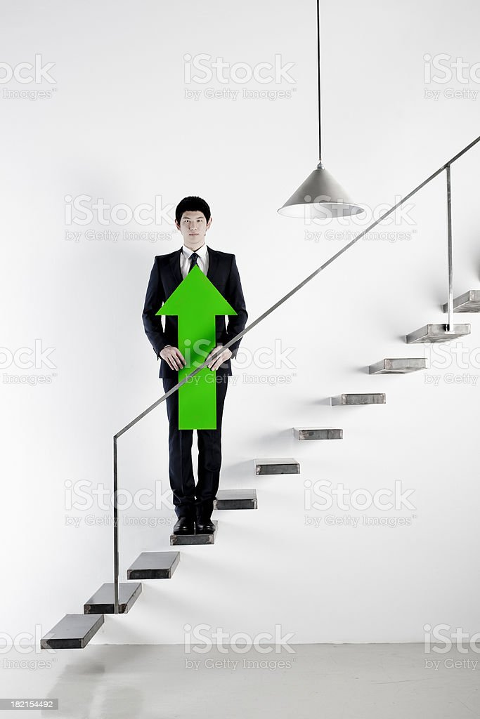Business up royalty-free stock photo