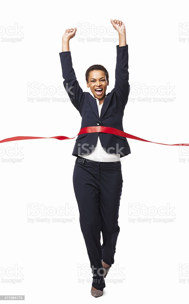 Business Victory - Isolated royalty-free stock photo