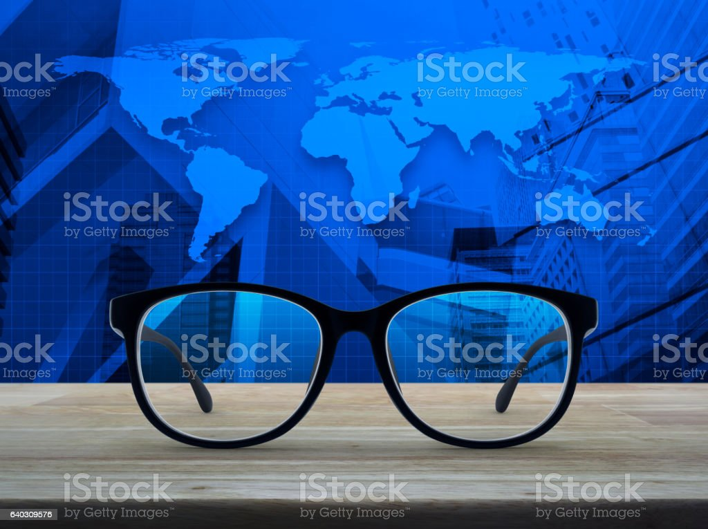 Business vision concept, Elements of this image furnished by NASA stock photo