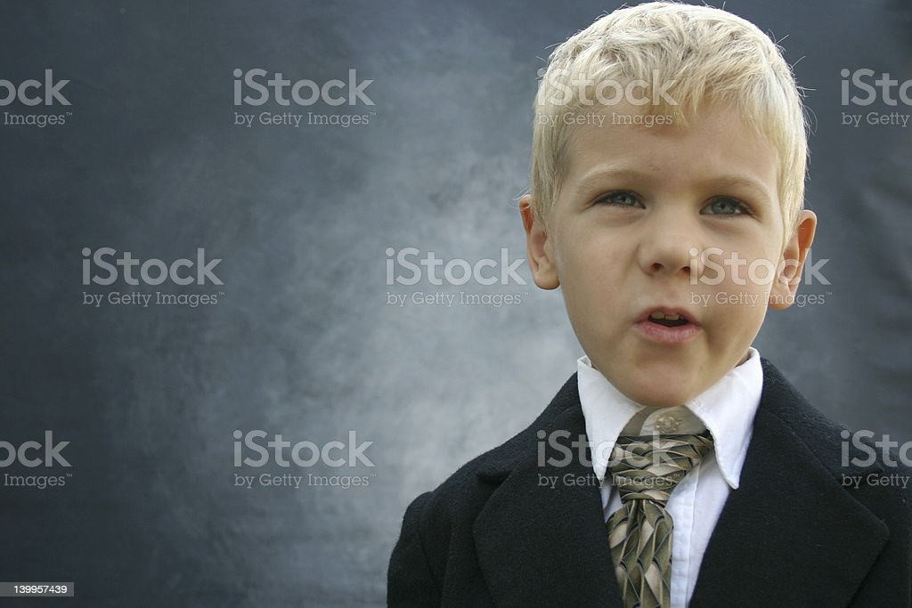 Business visionary boy royalty-free stock photo