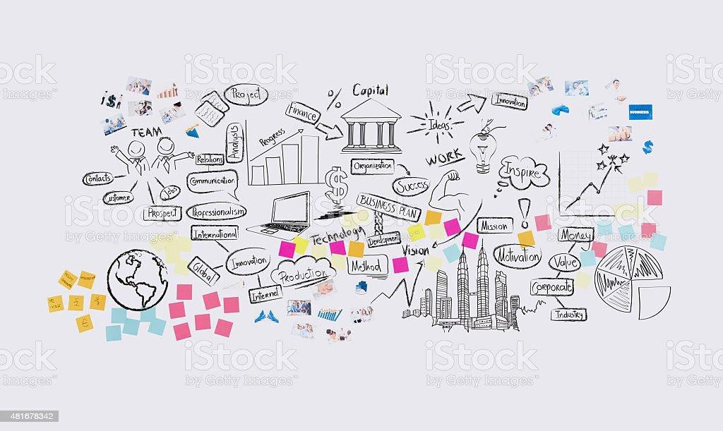 Business wall chart stock photo