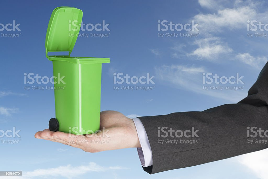 Business waste management royalty-free stock photo