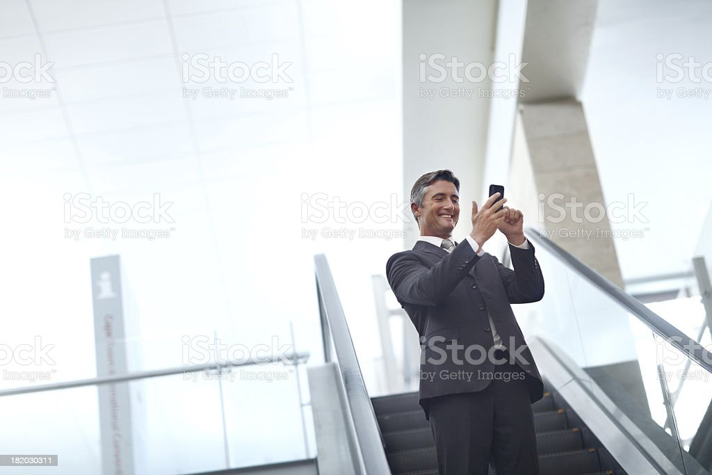 Business while on the go royalty-free stock photo
