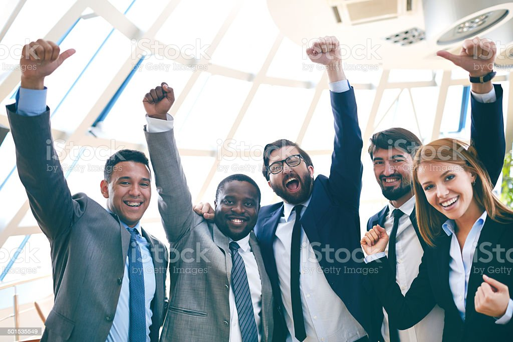 Business winners stock photo