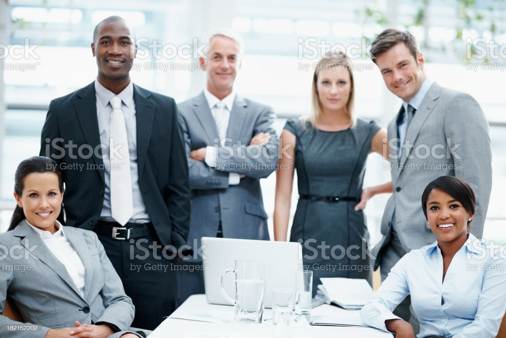Business with an attitude royalty-free stock photo
