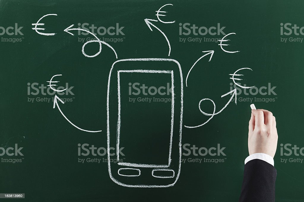business with digital device royalty-free stock photo
