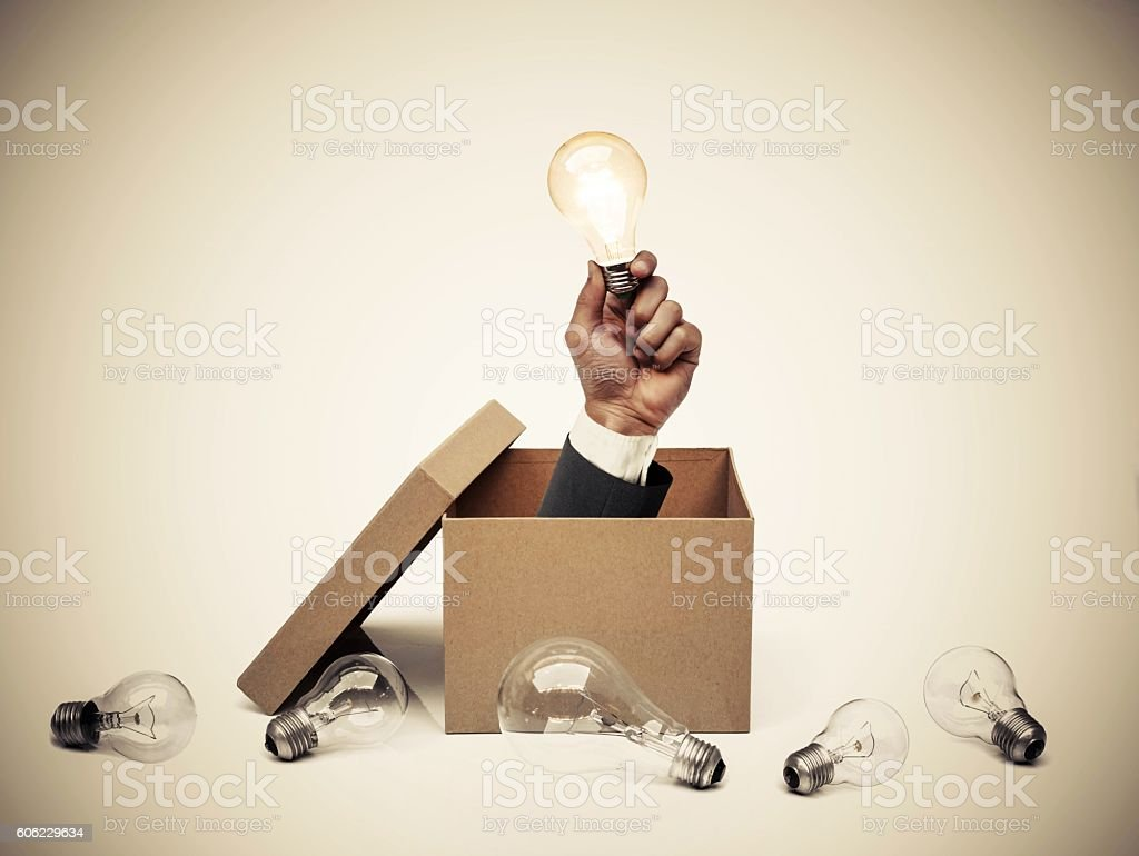 Business with new idea and innovation stock photo