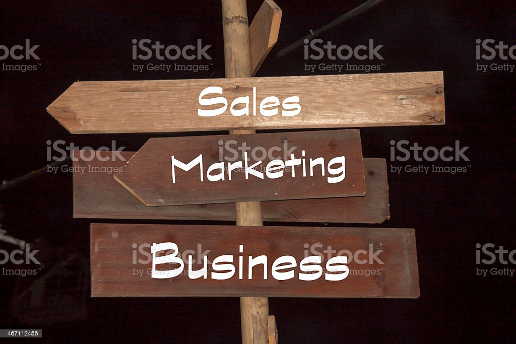Business with the most important channels - Marketing and Sales stock photo
