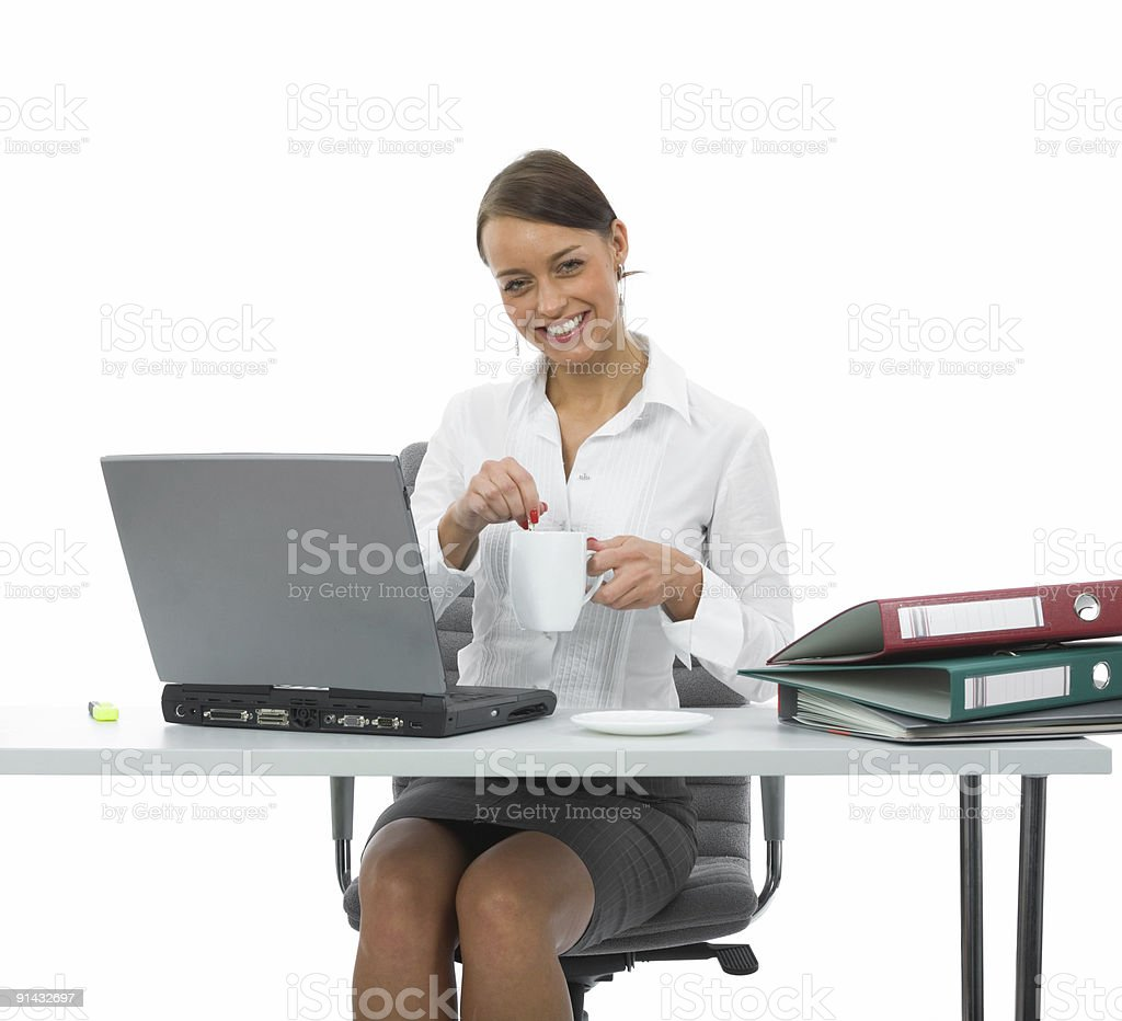 business woman and laptop royalty-free stock photo