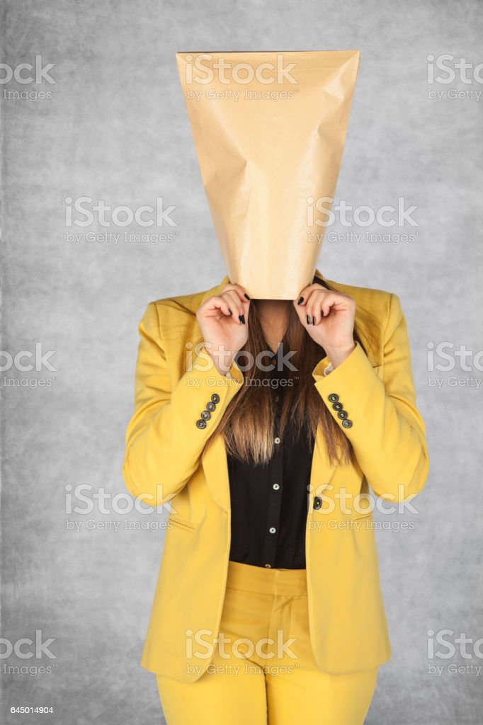 business woman as an incognito stock photo