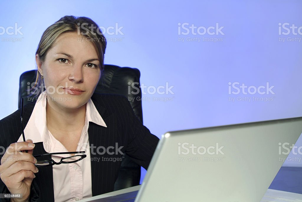 business woman at desk_02 royalty-free stock photo