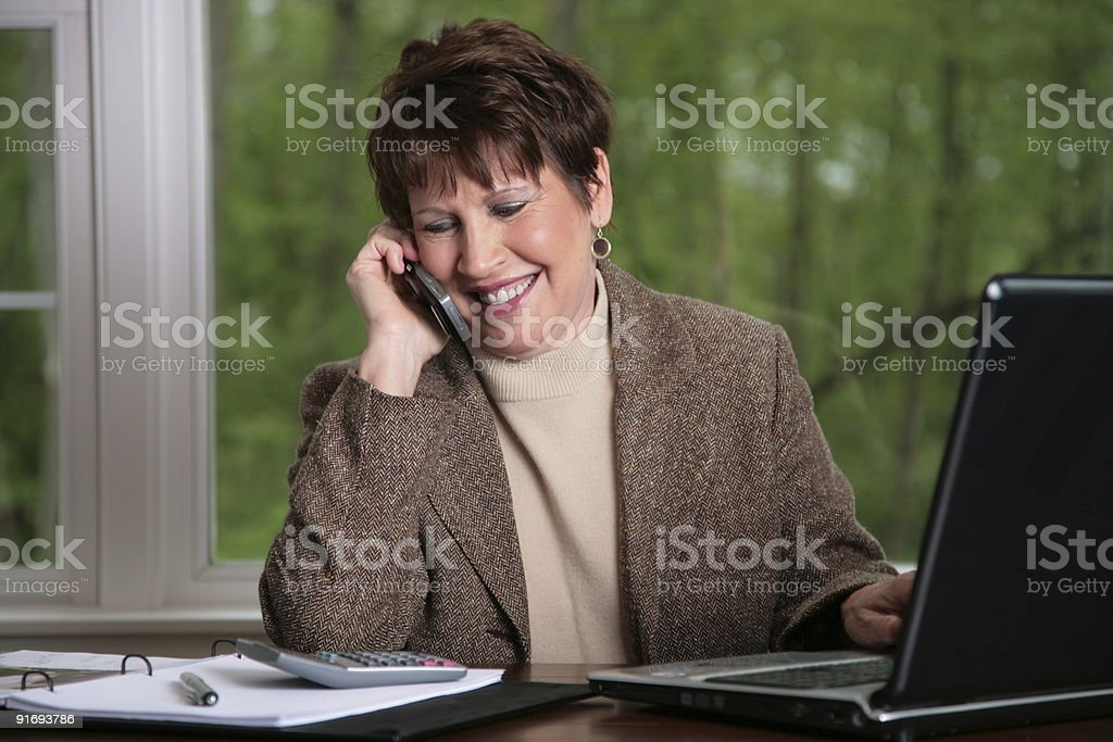 Business Woman at Home office royalty-free stock photo