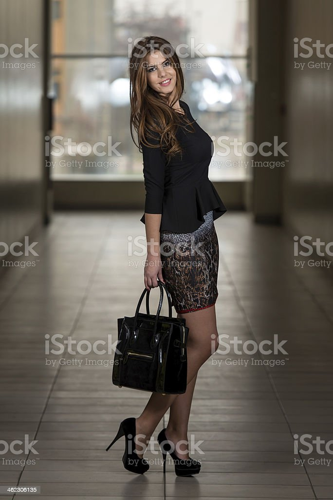 Business Woman At The Shopping Mall royalty-free stock photo