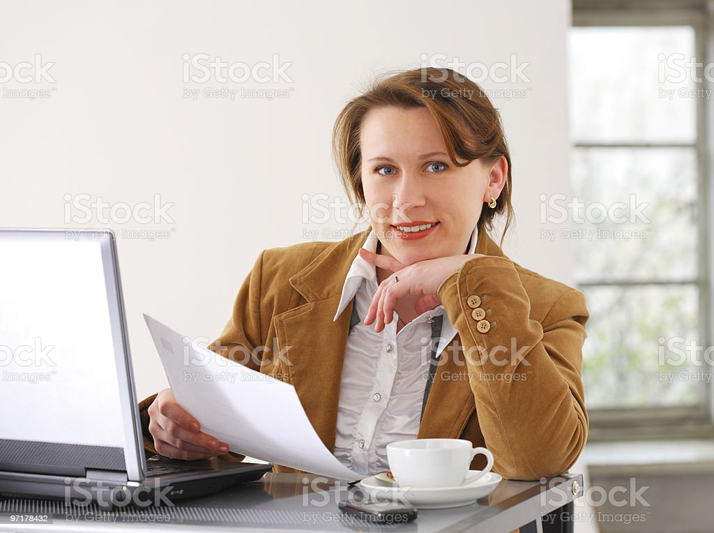 Business woman at work royalty-free stock photo