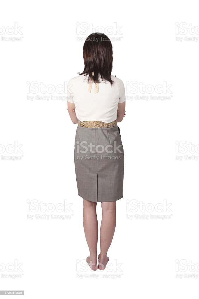 Business woman back view royalty-free stock photo