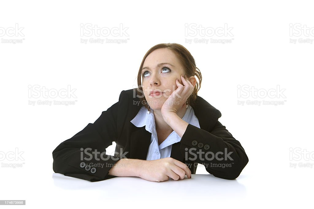 Business woman bored royalty-free stock photo