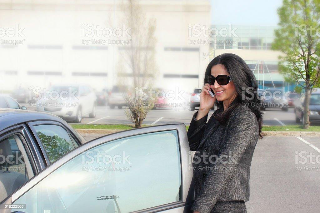 Business woman & Car stock photo