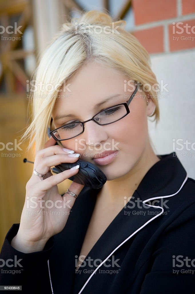 Business Woman / Cell Phone 4 stock photo