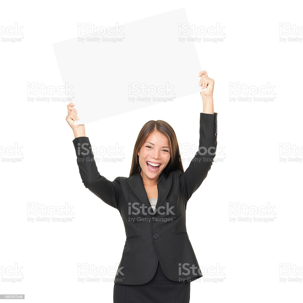 Business woman copy space royalty-free stock photo