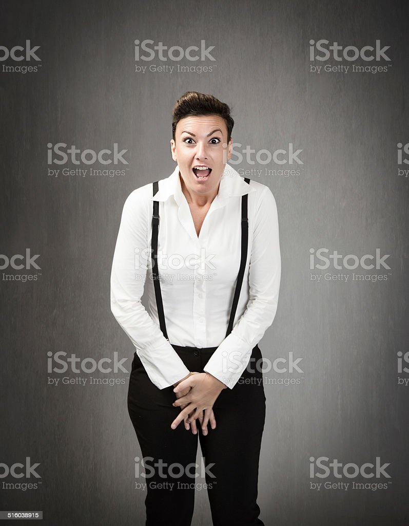 business woman don't want sell the body concept stock photo