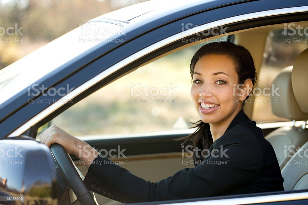 Business Woman Driving stock photo