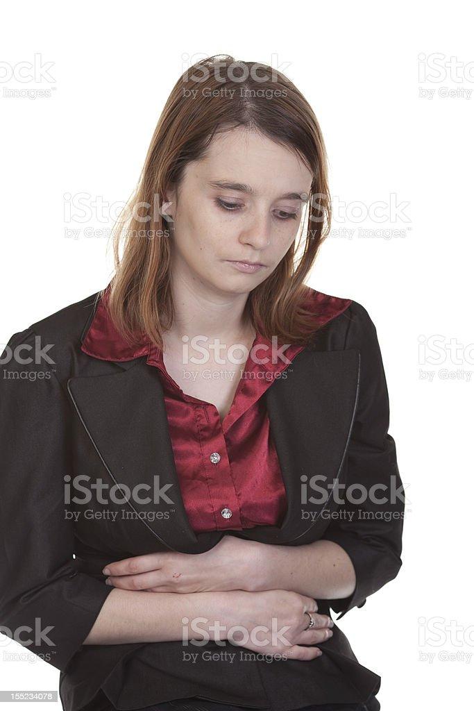 Business woman feeling ill stock photo