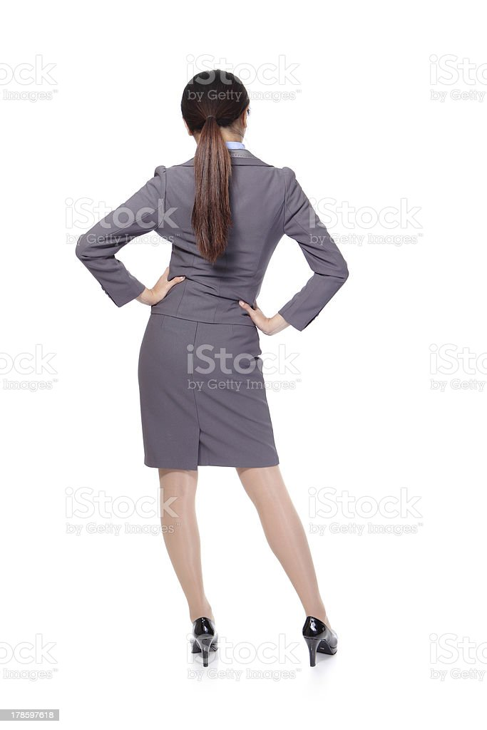 Business woman from the back royalty-free stock photo