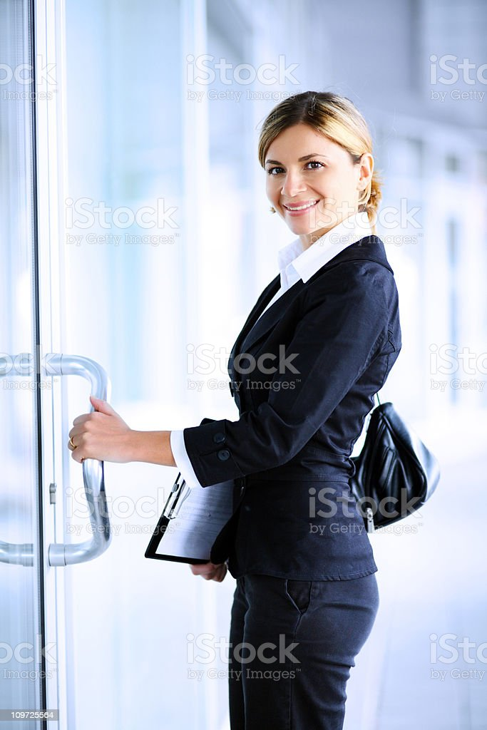 Business woman going to work. royalty-free stock photo