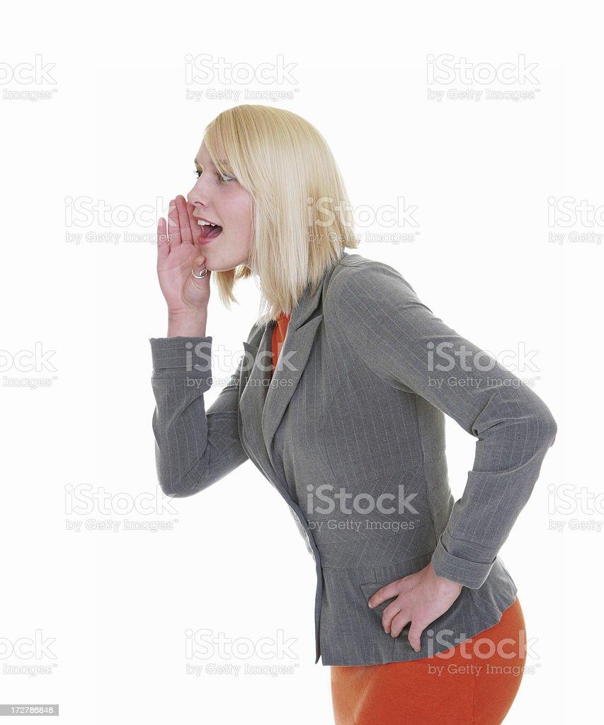 Business Woman  Gossip royalty-free stock photo