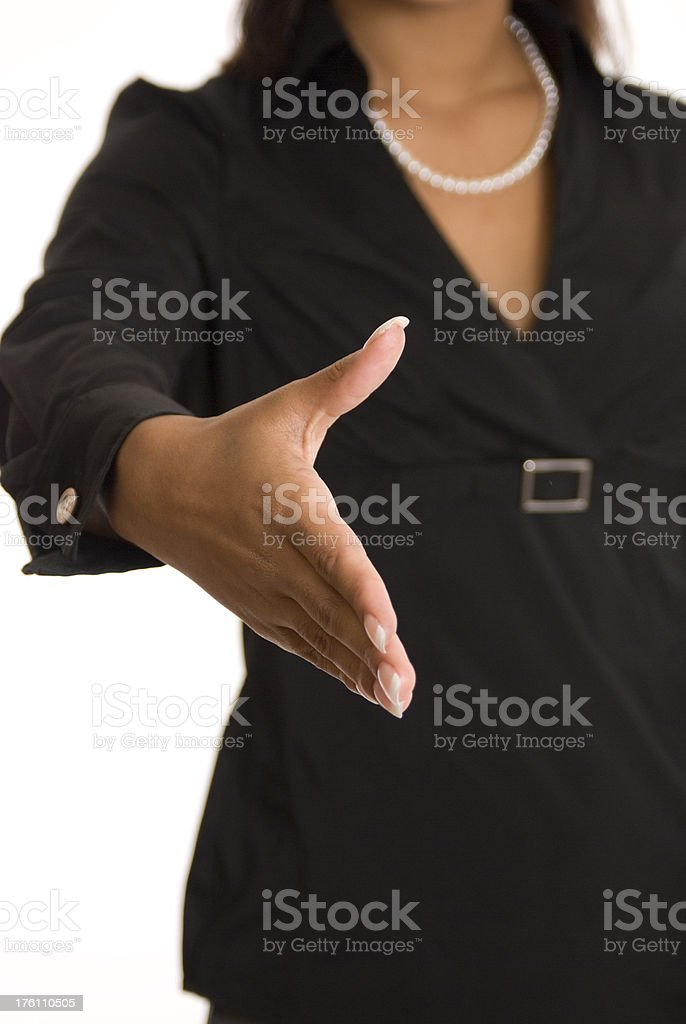 Business Woman Greeting royalty-free stock photo