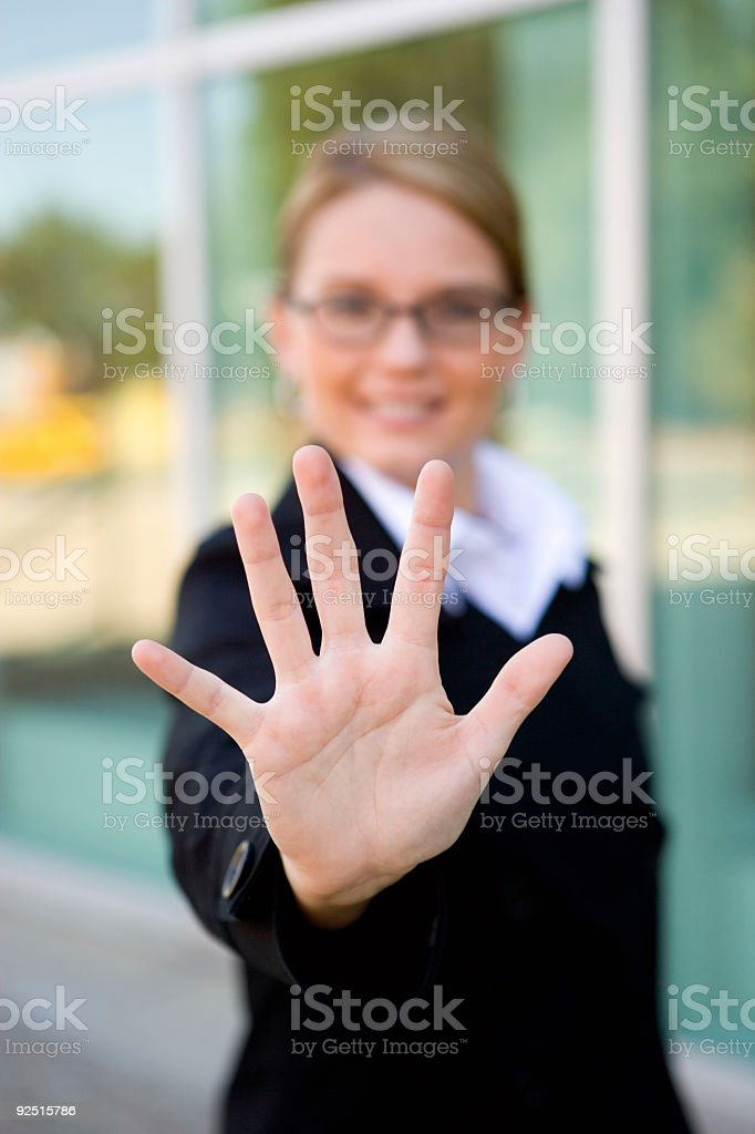 Business Woman / Hand stock photo