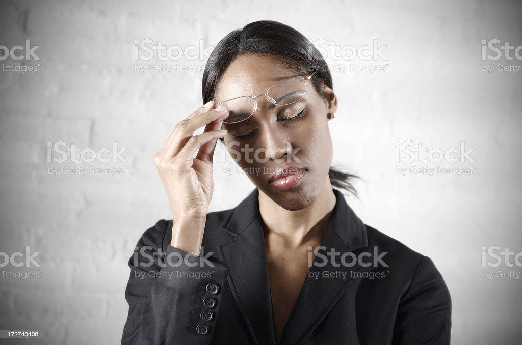 Business Woman Headache royalty-free stock photo