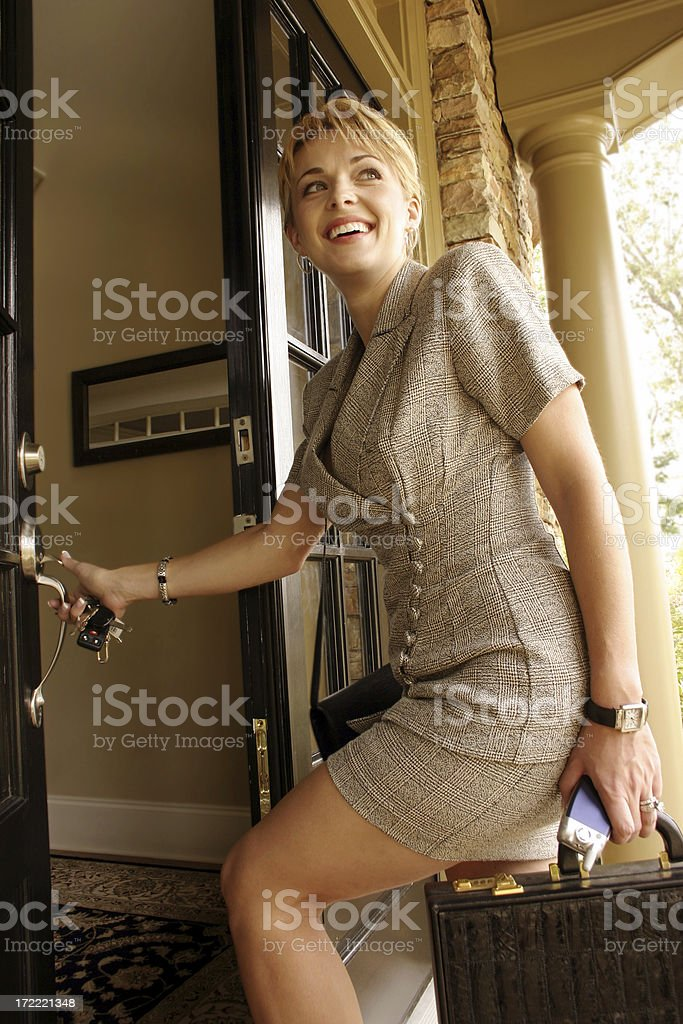 Business Woman Home stock photo
