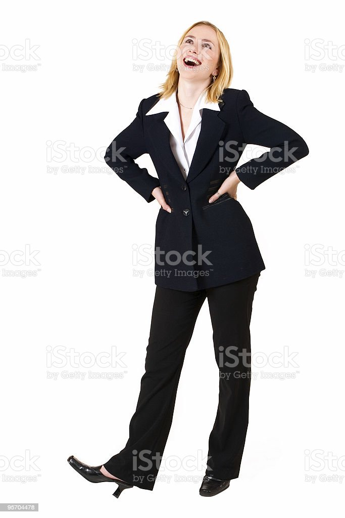 Business Woman in black suit royalty-free stock photo