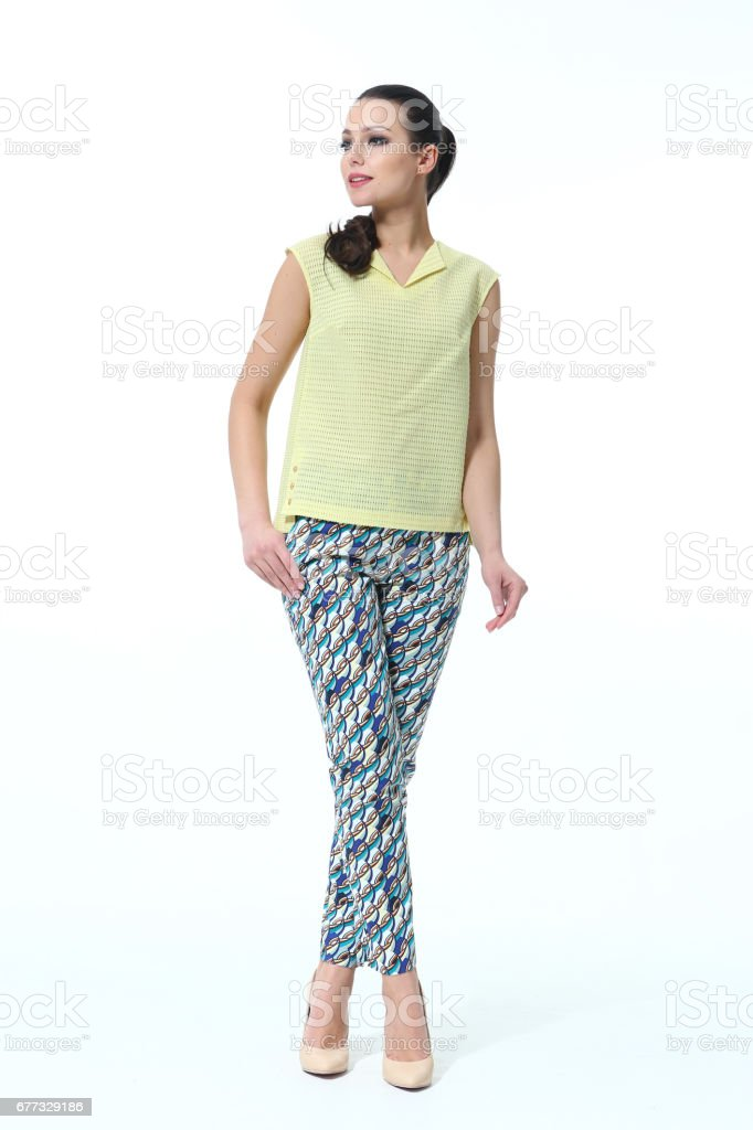 business woman in casual closes stock photo