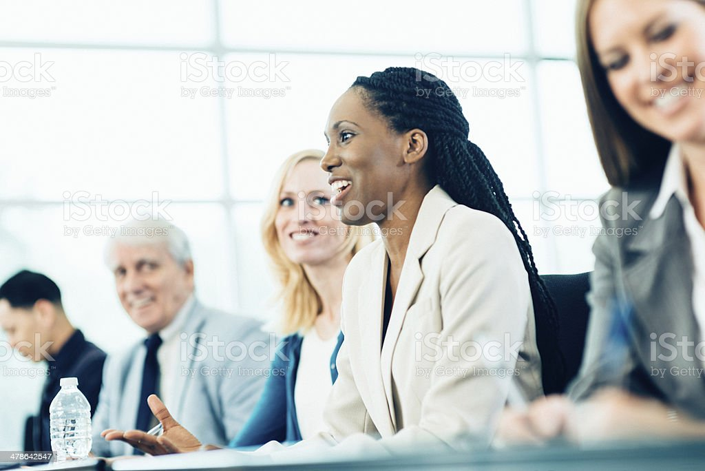Business Woman in Conference stock photo