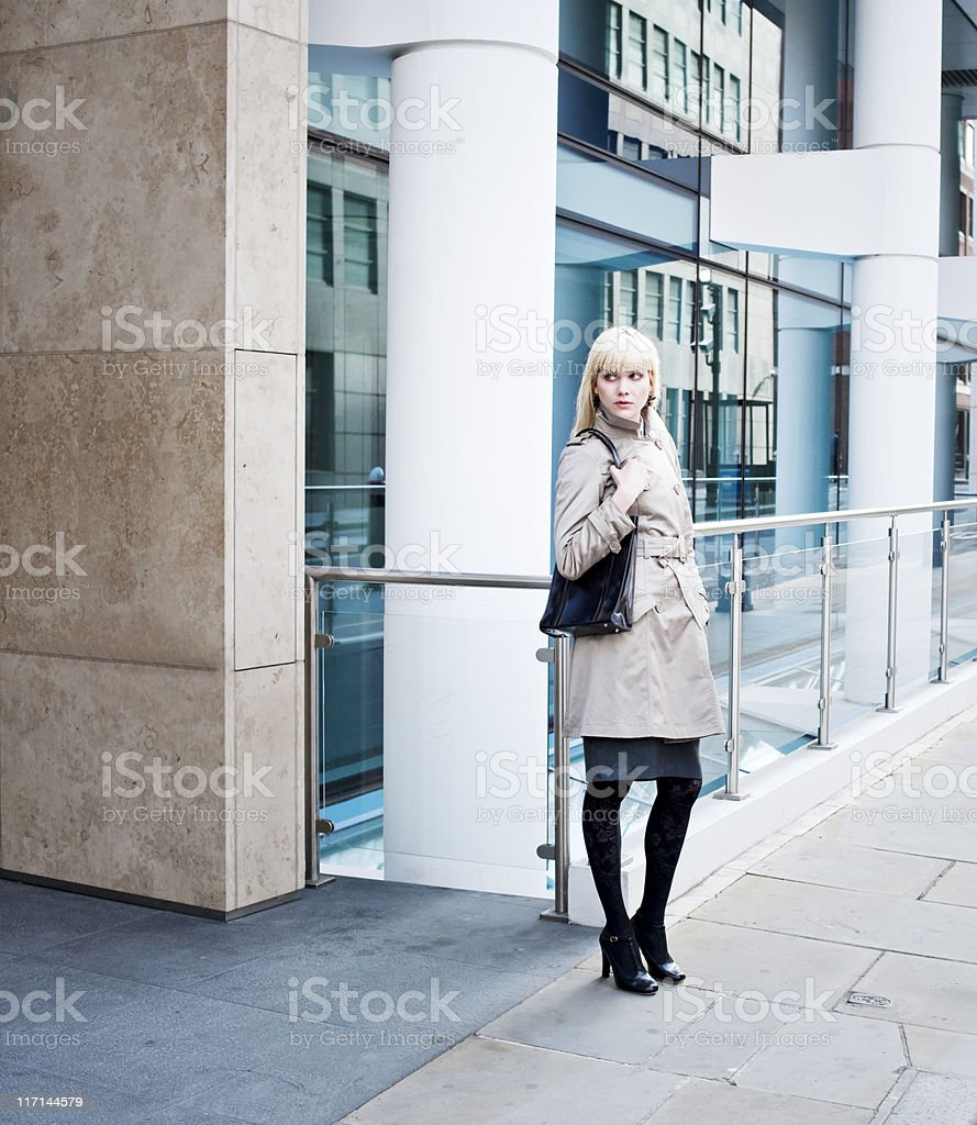 Business Woman in Downtown Financial District stock photo