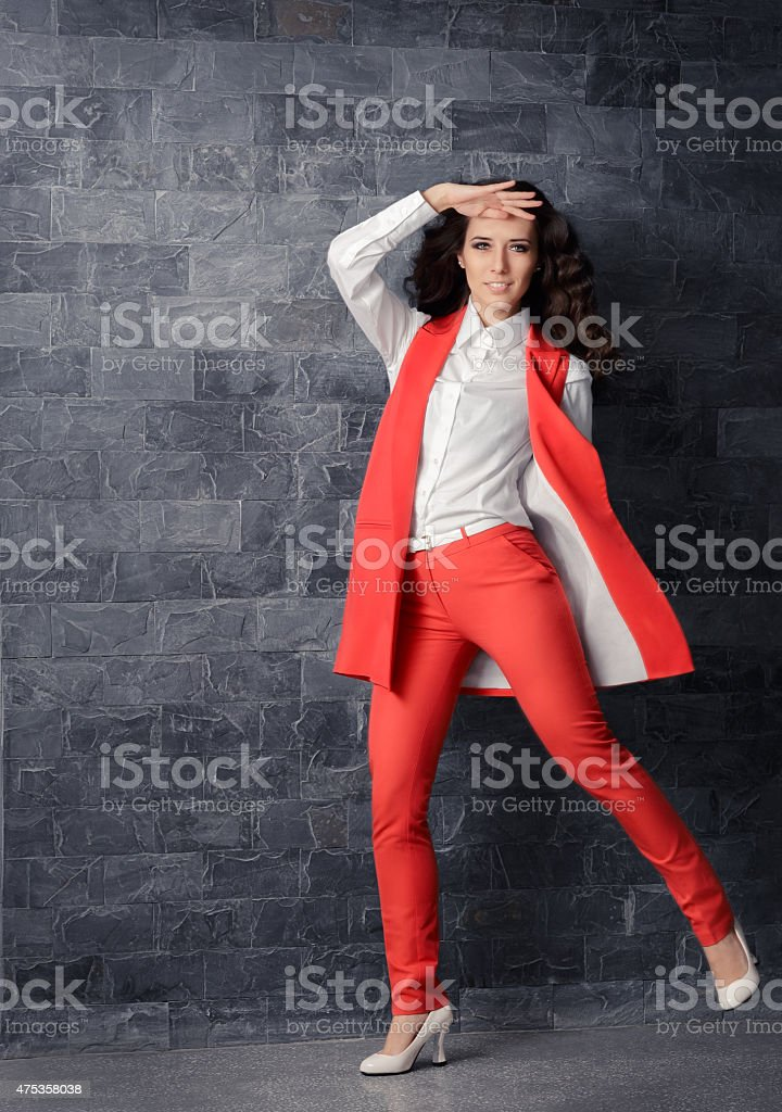 Business Woman in Smart Office Outfit stock photo