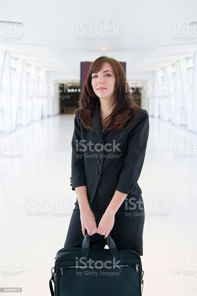Business Woman In The Airport royalty-free stock photo