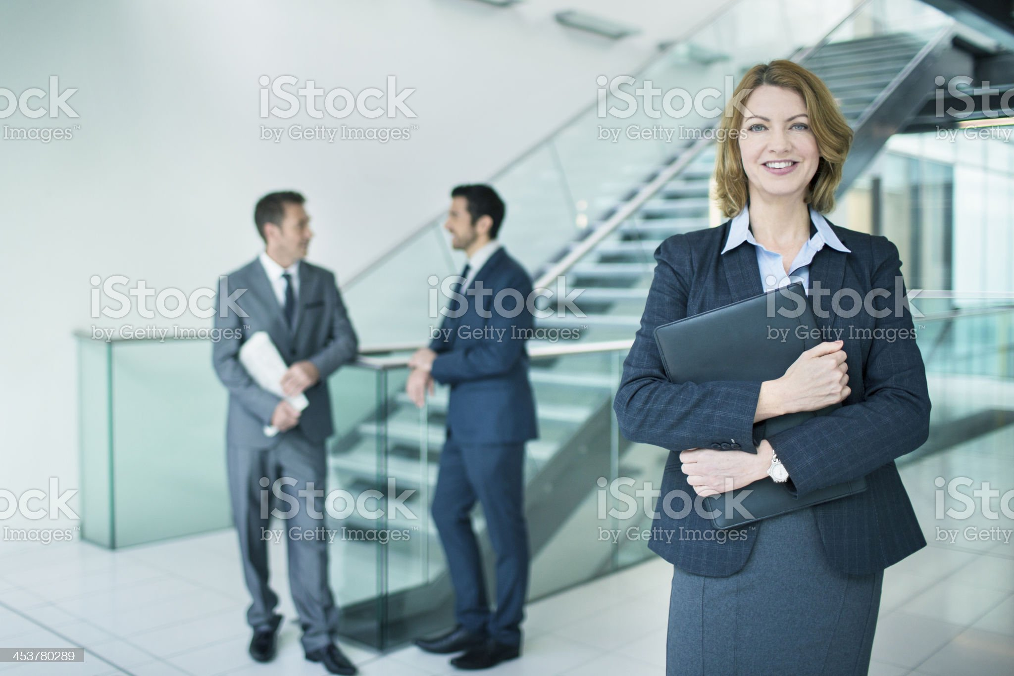 Business woman in the lobby royalty-free stock photo