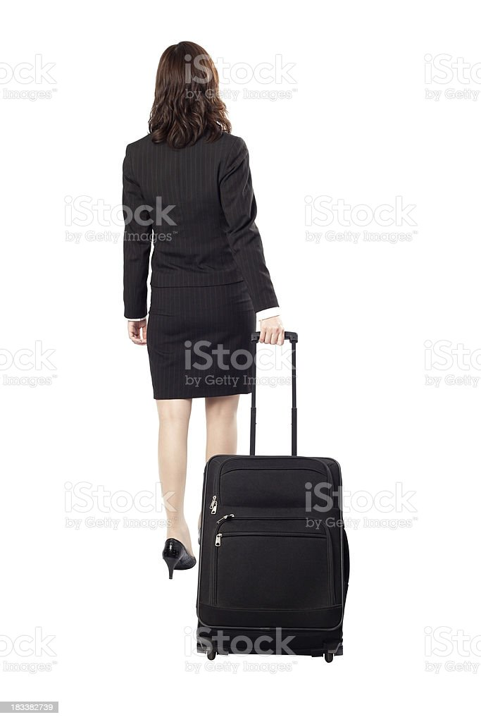 Business woman in travel stock photo
