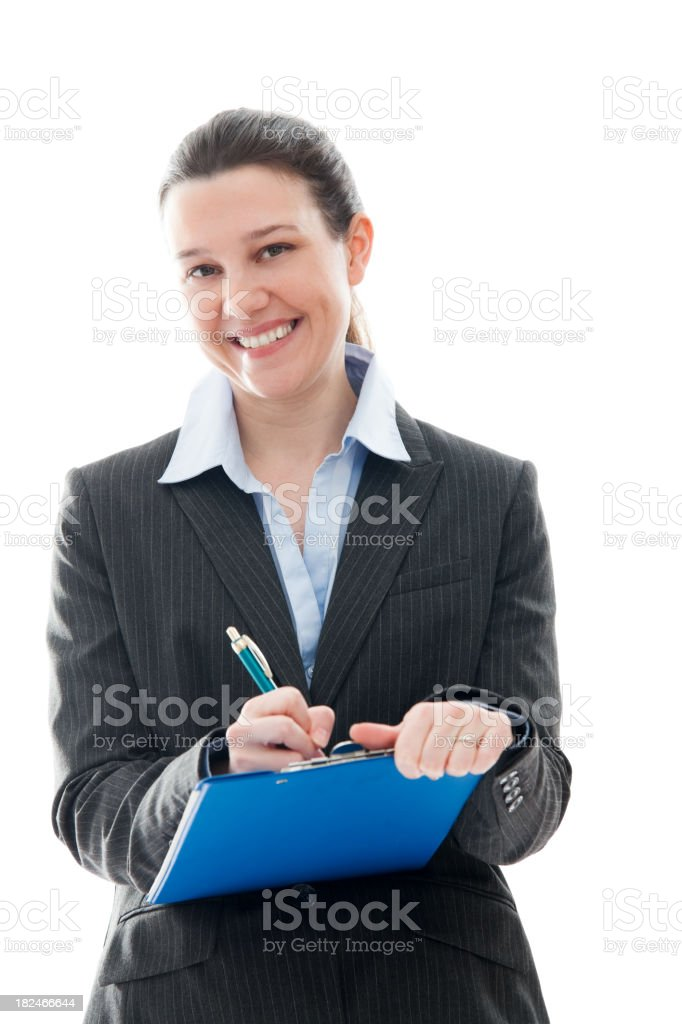 Business Woman Isolated on White royalty-free stock photo