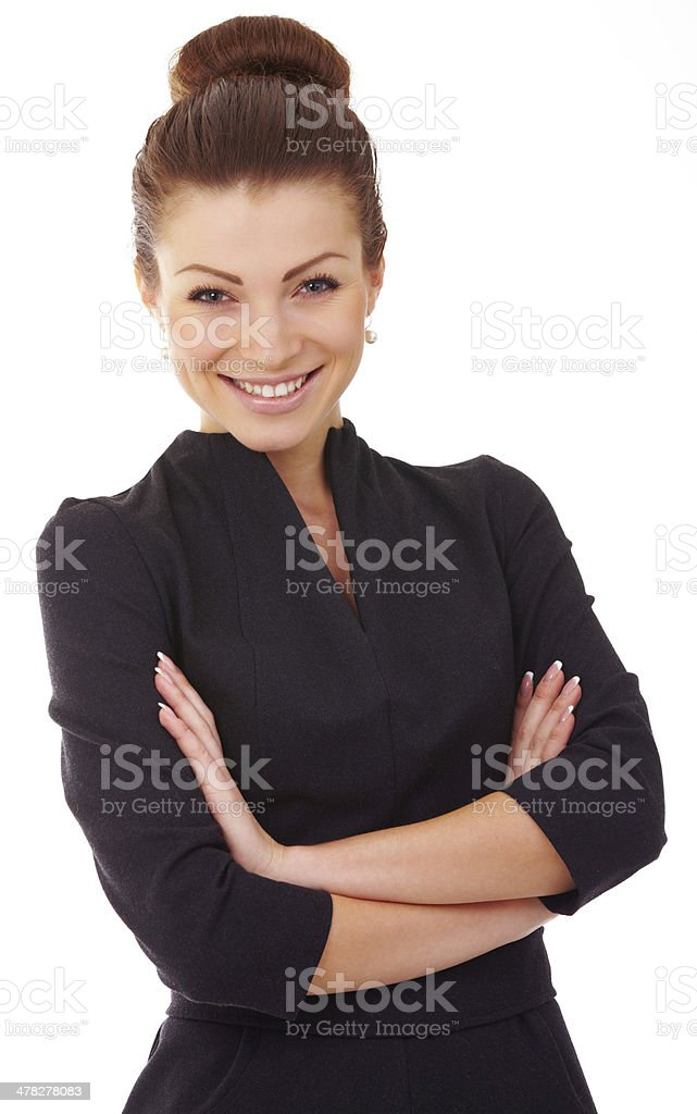 business woman. Isolated over white background stock photo