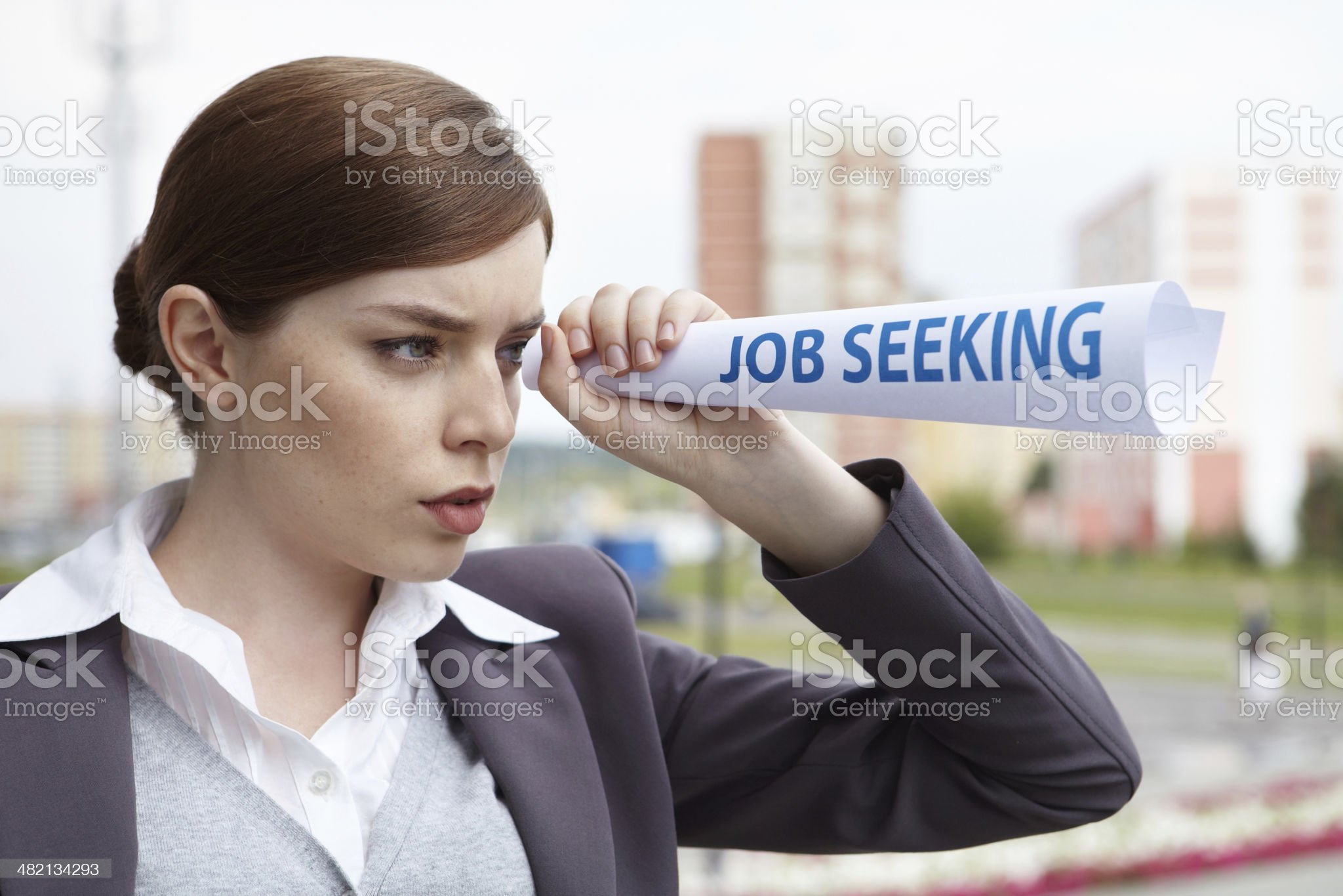 Business woman. 'Job seeking' concept. royalty-free stock photo