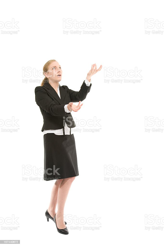 business woman juggling royalty-free stock photo