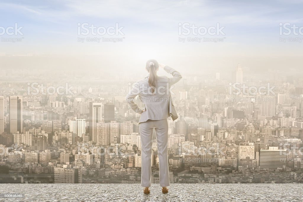 business woman looking stock photo