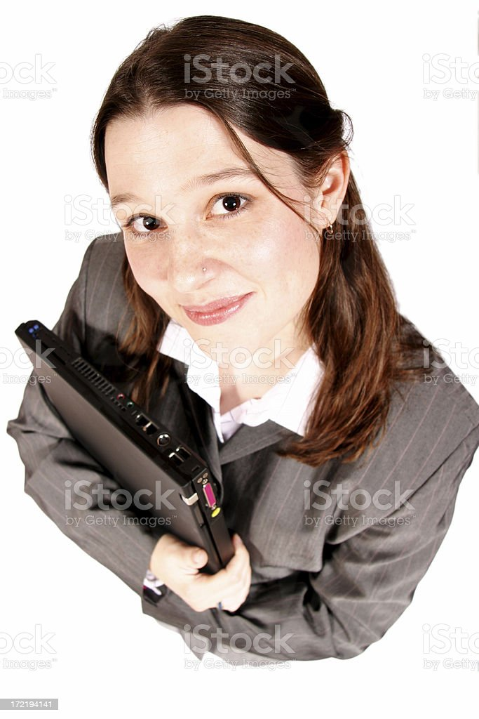 Business Woman Looking Up royalty-free stock photo