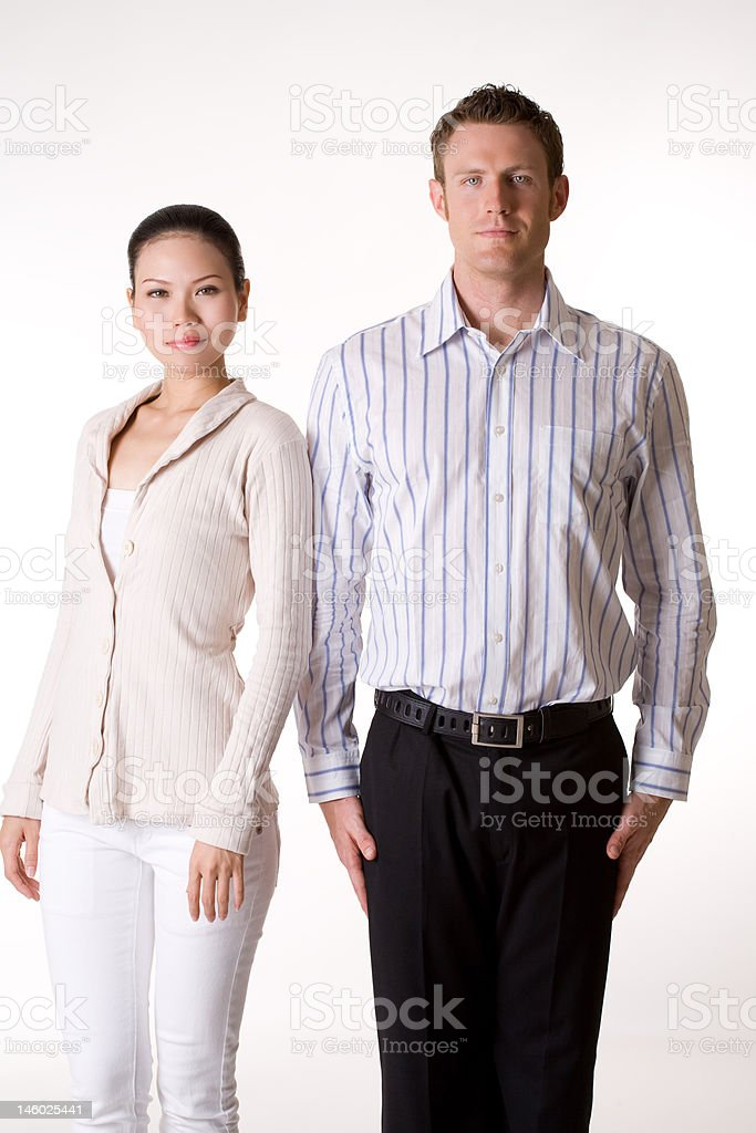 business woman & man royalty-free stock photo