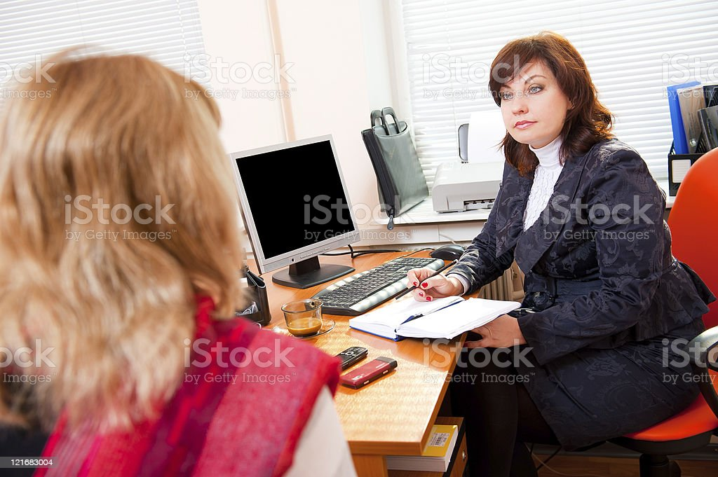 Business woman meets royalty-free stock photo